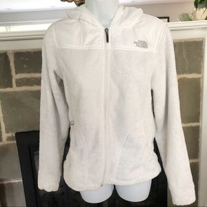 THE NORTH FACE   Hooded Fleece Jacket White - XS